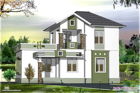 Small Double Floor Home Design In 1200 Sqfeet Home