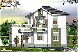 Small double floor home design in 1200 sq.feet