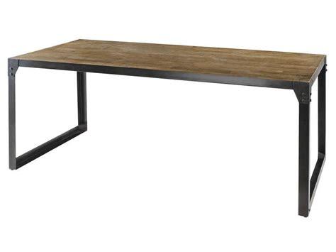 table rectangulaire 180 cm worker en acacia conforama