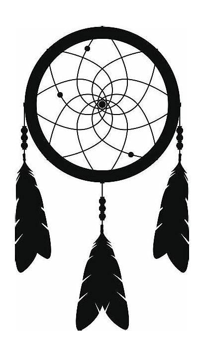 Catcher Dream Silhouette Vector Clip Medicine Wheel