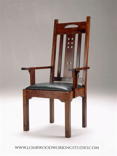 lohr arm side dining chairs lohr woodworking studio