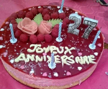 cuisine au fromage gâteau d 39 anniversaire bavarois à la framboise recette de