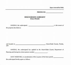 sample hold harmless agreement 8 documents in pdf word With hold harmless waiver template