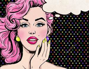 Pop Art illustration of girl with the speech bubble.Pop ...