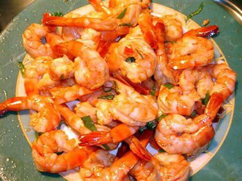 recette de cuisine avec des crevettes recette de crevettes marinée de jo