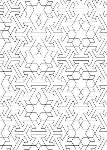 islamic pattern coloring page  printable coloring pages