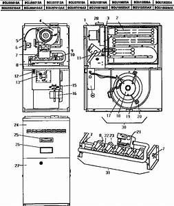 Coleman    Evcon Ind  Bgu Series Gas Furnace Parts
