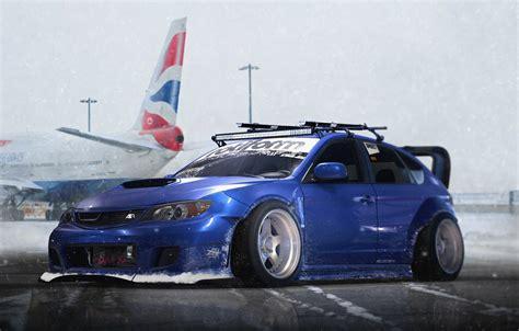 Blue Subaru Wallpaper by Wallpaper Subaru Impreza Wrx Blue Sti Snow Stance