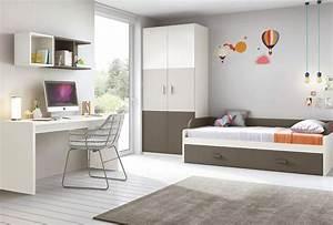 Chambre enfant complete moderne avec lit gigogne for Luminaire chambre enfant avec matelas zenitude memoire de forme