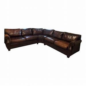 Bernhardt grandview sectional leather sofa chairish for Bernhardt leather sectional sofa prices