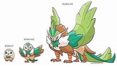 Rowlet Evolution Pokemon Fake Deviantart Rayquaza Evolutions