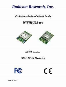 Radicom Research Wifihu2s Usb Wifi Module User Manual