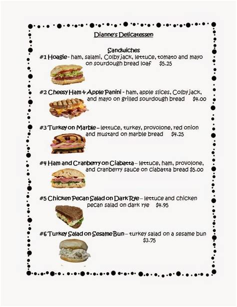 free this free 3 page menu can be used to create menu