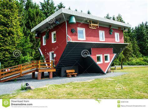 Verrücktes Haus Auf Edersee, Deutschland Stockbild Bild