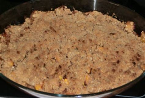crumble pommes p 234 ches recette pour les enfants sur lapinou