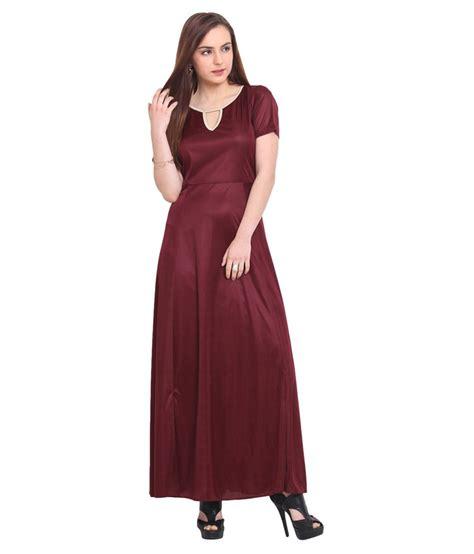 maxi blink blink maroon viscose maxi dress buy blink maroon viscose