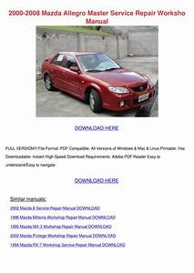 2000 Mazda 626 Workshop Manual Free Download