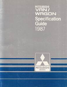1987 Mitsubishi Van Wiring Diagram Manual Original