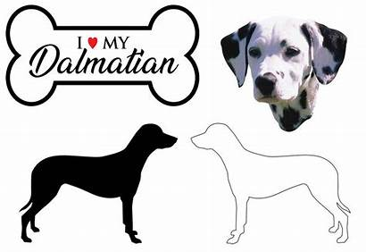 Dalmatian Dog Breed Decals Silhouette Sizes Tallest