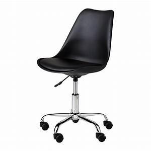 Chaise De Bureau : chaise de bureau noire bristol maisons du monde ~ Teatrodelosmanantiales.com Idées de Décoration
