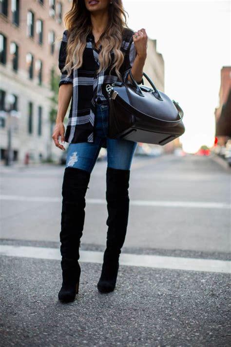 15 Outfits su00faper lindos para invierno con botas a la rodilla