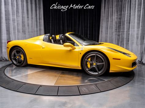 458 Italia Spider For Sale by Used 2015 458 Italia Spider For Sale 189 800