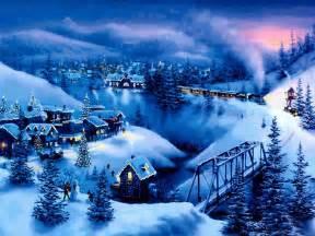 free christmas desktop wallpapers snow christmas mountains wallpaper
