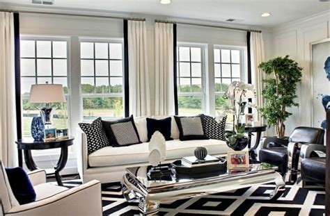 Elegant Grey And White Living Room