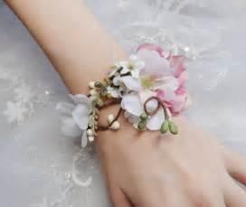 how to make a corsage wristlet pink wedding wedding cuff bracelet 2228577 weddbook