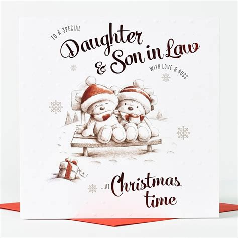 hugs christmas card daughter son  law sketch