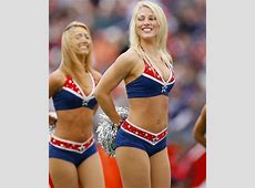 NFL Cheerleaders images two Patriotic cheerleaders