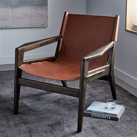 felipe leather sling chair west elm