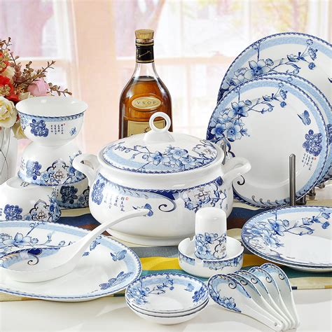 1640 blue and white dish sets quality 56 dinnerware sets bowls blue and white