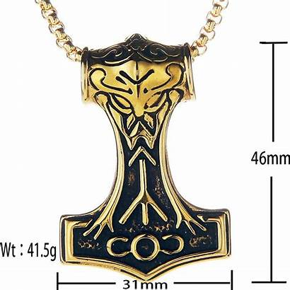 Viking Thor Necklace Hammer Pendant Trendsmax Jewelry