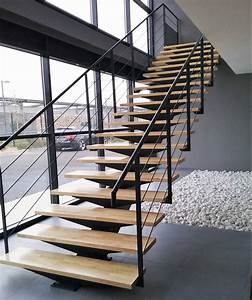 Escalier Droit Bois : escalier droit limon central m tallique atelier des ~ Premium-room.com Idées de Décoration