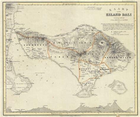 kaart van het eiland bali geographicus rare antique maps