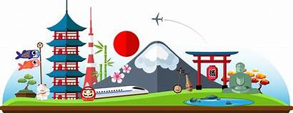 Japan Clipart Japanese Architecture Travel Landmark Transparent