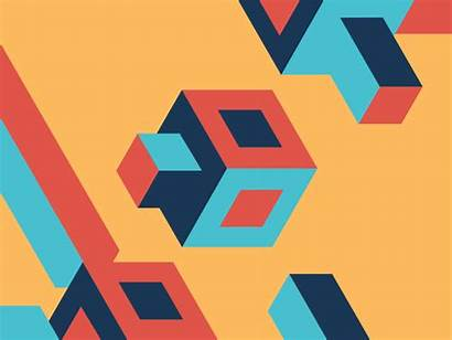 Dribbble Squares Cool Shapes Geometric Animation Animations