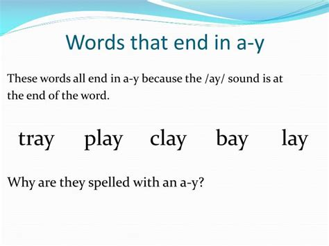 """Spelling Rule For The """" Ai /ay"""" Sound Powerpoint"""