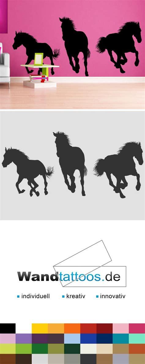 Kinderzimmer Wandgestaltung Pferde by Wandtattoo Pferde Silhouetten Tier Motiv Wandtattoos