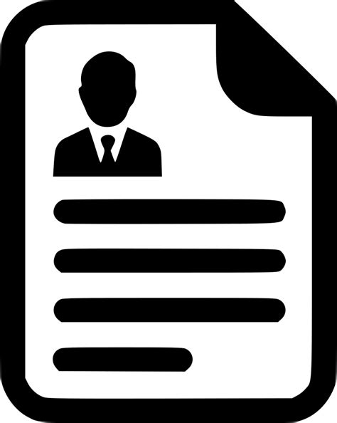 13306 black resume icons cv contract agreement resume paper document svg png icon