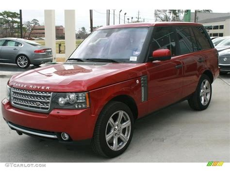 red land rover rimini red metallic 2011 land rover range rover