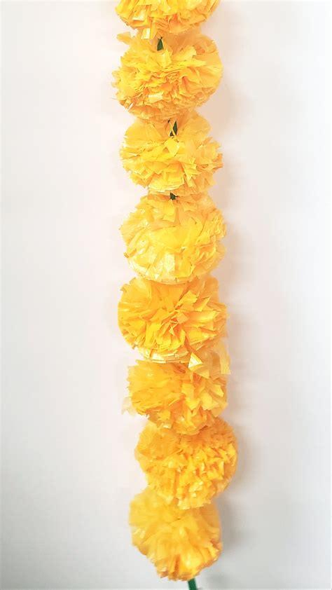 artificial marigold flower strings toronto bling  bells