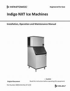 Manitowoc Indigo Nxt Ice Machines Installation Manual