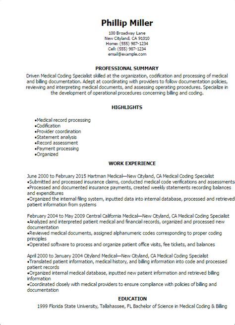 billing and coding resume 22 resume exles for