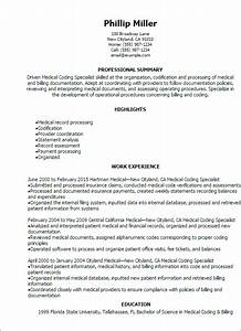 professional medical coding specialist resume templates to With free medical billing resume templates
