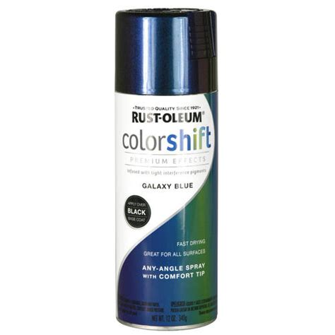 rust oleum 174 specialty color shift galaxy blue spray paint