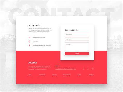 contact section web design footer design form design web