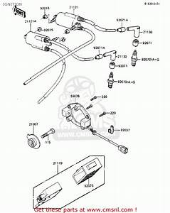 Kawasaki Zx750a2 Gpz750 1984 Usa California Canada Ignition