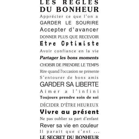 stickers mural texte humour maison bonheur porte deco original g 233 ant pas cher